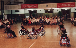 The Beacon Wheelchair Dance Group in Torquay Town Hall